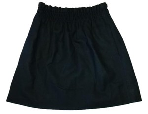 J.Crew Wool Wool Mini Mini Skirt Black