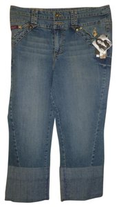 Baby Phat Liquid 16 Kimora Capri/Cropped Denim-Medium Wash