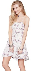 Free People short dress White / Floral on Tradesy