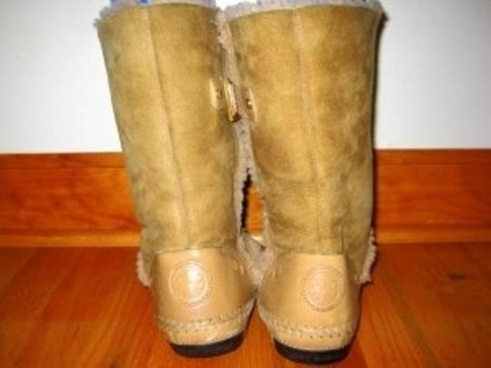 Tory Burch Designer Suede Shearling Leather Moccasin Bloomingdales Camel Boots