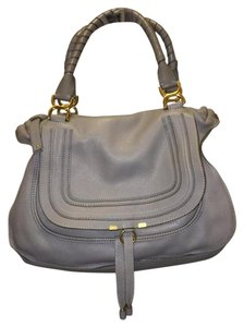 Chloé Large Marcie Satchel in Grey