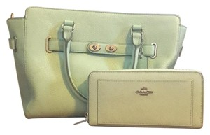 Coach Satchel in Mint Green