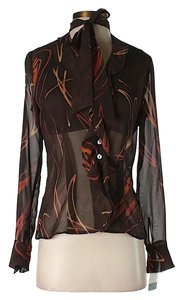 Cynthia Steffe Sheer Floral Top