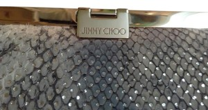 Jimmy Choo Made In Italy Multi - Pale Grey, Pink, White, Silver Metallic Highlights Clutch