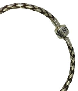 PANDORA Pandora single leather bracelet woven