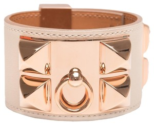 Hermès Hermes Craie Leather Collier De Chien (CDC) Bracelet Small