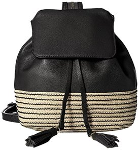 Rebecca Minkoff Leather Basket Weave Straw Ivory New With Tags Backpack