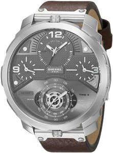 Diesel Diesel Men's Machinus Three Hand Leather Watch dz7360