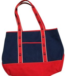 Liz Claiborne Tote in Red Blue