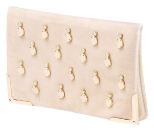 Shiraleah Crab Silk Ivory Clutch