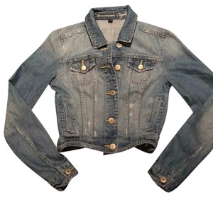 American Eagle Outfitters Light Blue Denim Womens Jean Jacket