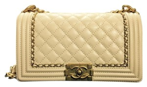 Chanel Boy Calfskin Old Medium Le Boy Le Boy Cross Body Bag