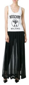 Boutique Moschino Couture Silk Maxi Sleeveless Dress
