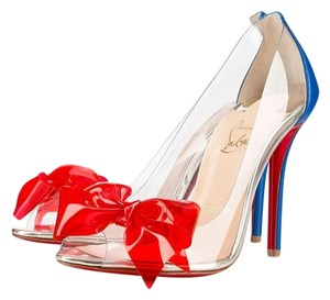 Christian Louboutin Clear with some multicolored detailing Pumps