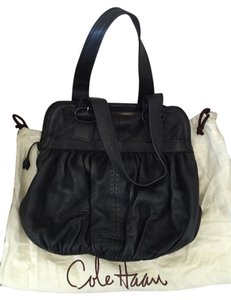 Cole Haan Satchel in Black With Brown Stitching
