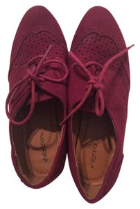 Xhilaration Oxblood Oxford Lace-up Dressy Casual Magenta Flats