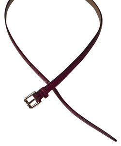 Cole Haan COLE HAAN SKINNY BELT B43515 WINERY MEDIUM LEATHER NEW