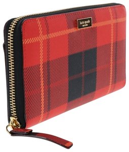 Kate Spade Plaid red Clutch