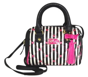 Betsey Johnson Mini Striped Cross Body Bag