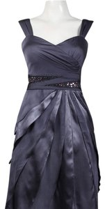 Adrianna Papell Chiffon Ruffle Beaded Motherofthebride Sleeveless Dress