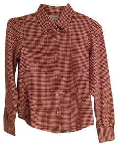 Banana Republic Button Down Shirt Gingham Multi Colors