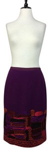 Oscar de la Renta Wool Skirt Purple