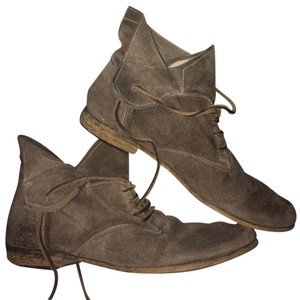 Boutique 9 Ankle Vintage Leather Casual Rustic Brown Grey Boots
