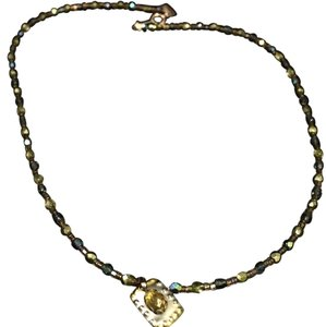 Anthropologie Holly Yashi Swarovski Crystal Beaded Necklace Gemstone