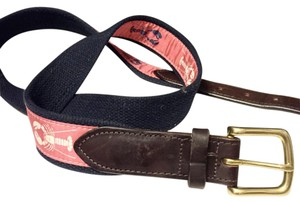 Vineyard Vines Vinyard Vines Embroidered Navy Belt
