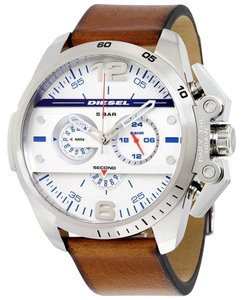 Diesel Diesel Men's Ironside Chronograph Leather Watch DZ4365