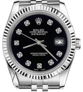 Rolex Women`s Rolex 26mm Datejust Black Color Dial with Diamond Accent Watch