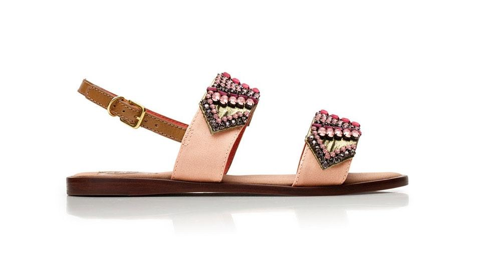 b554e277e6 Tory Burch Beaded Jeweled Embroidered Flat Blush Pink Sandals Image 10.  1234567891011
