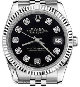 Rolex Women`s Rolex 31mm Datejust Black Color Dial with Diamonds Watch