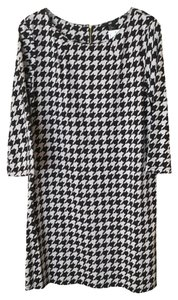 H&M short dress Black/Greige Houndstooth Knit Black on Tradesy