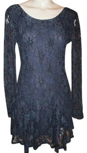 Lucca Couture Lace Long Sleeve Night Out Evening Dress