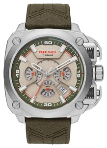Diesel Diesel BAMF Stainless-Steel and Canvas & Leather Watch DZ7367
