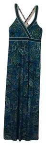 Turquoise, black and green Maxi Dress by INC International Concepts