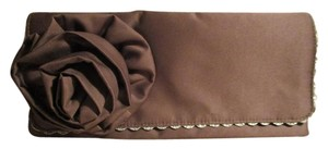 Emma Gordon Satin Handmade brown Clutch