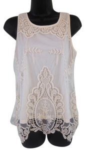 Artisan NY Crochet Lace Top Cream