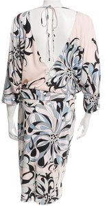 Emilio Pucci Monogram Longsleeve Gold Hardware Dress