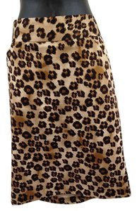 Charter Club Skirt Brown, black, tan animal print