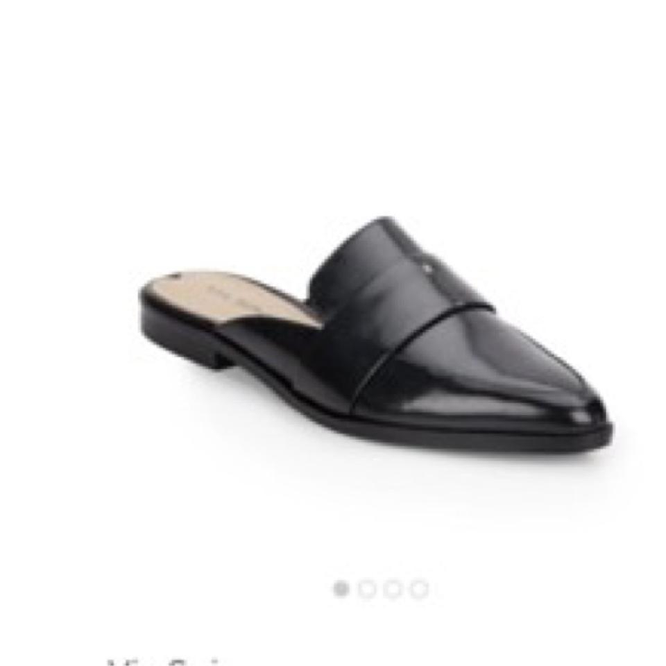 2394b43f3814 Via Spiga Black Lauryn Pointy Toe Mules Slides Size US 9 Regular (M ...