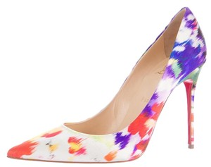 Christian Louboutin Satin Decollete Floral So Kate Pigalle Multicolor Pumps