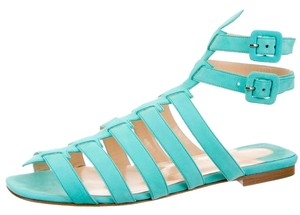 Christian Louboutin Neronna Caged Ankle Strap Strappy Peep Toe Blue Sandals