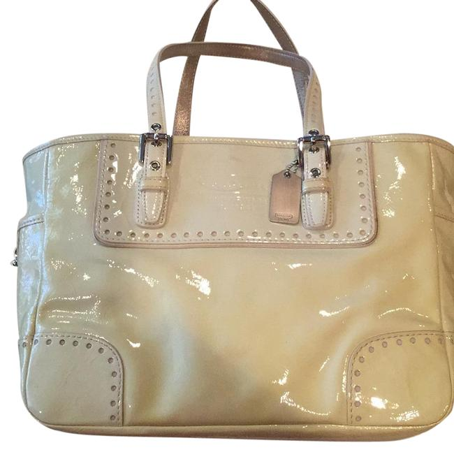 Item - Ivory Patent Leather Tote