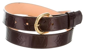 Louis Vuitton Amarante Vernis LV monogram Louis Vuitton belt S Small