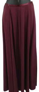 J. Peterman Silk Maxi Skirt burgundy