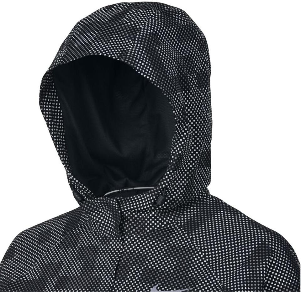 72592bec9ba2 Nike Black 3m Reflective Shield Flash Running Jacket Activewear Size ...