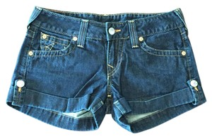 True Religion Cuffed Shorts Navy