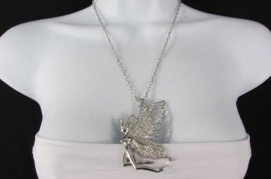 Other Women 28 Long Metal Chain Fashion Necklace Butterfly Tikerbell Gold Silver